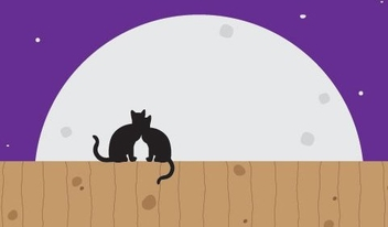 Moon Cats - vector gratuit #216197