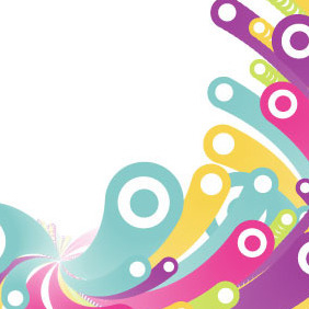 Colorful Bubbles Vector Background - бесплатный vector #216277