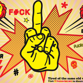 Middle Finger - vector #216497 gratis