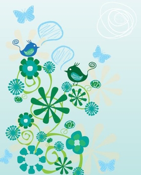 Birds Chatting - Free vector #216507