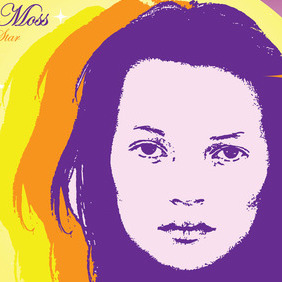 Kate Moss Vector - Free vector #216547