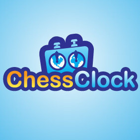 Chess Clock Logo - vector gratuit #216607