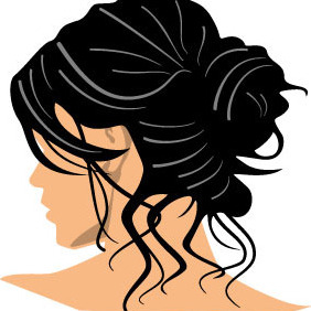 Black Hair Vector - vector #216617 gratis