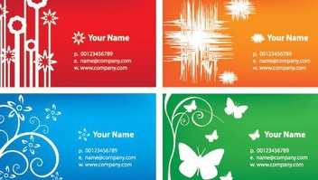 Colorful Business Cards - vector gratuit #216637