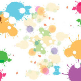 Splash Art Colored Vector - vector gratuit #216707