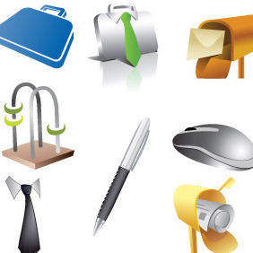 Various Item Icon Set - vector #216767 gratis