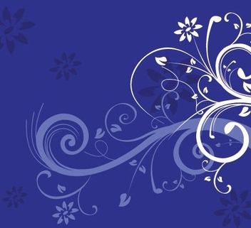 Swirls on Blue - vector gratuit #216787
