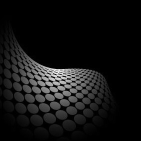 Abstract Black Background With Grey Dots - Free vector #216847