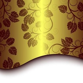 Abstract Golden Background - vector gratuit #216897