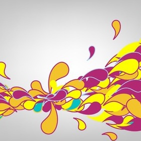 Abstract Colorful Splash - Free vector #216927