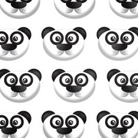 A Cute Panda Bear Pattern - Free vector #216947