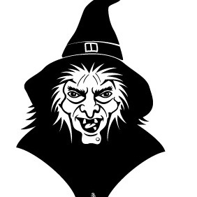 Witch Vector - Free vector #216987