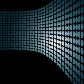 Dotted Blue Vector Background - vector #217097 gratis