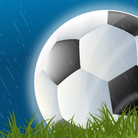 Football In The Rain - vector gratuit #217157