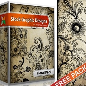 Free Floral Vector & Brush Pack - vector #217197 gratis
