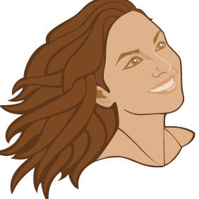 Girl With A Smile Vector - Free vector #217267