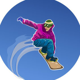 Snowboarder Vector Illustration - Free vector #217377