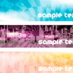 Tech Banner Free Design - vector #217467 gratis