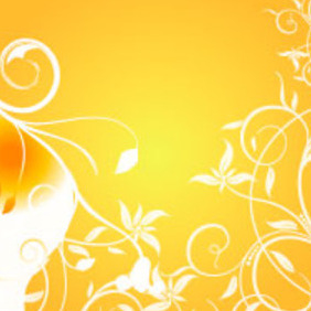 Orange Background Vector Graphic - vector gratuit #217527