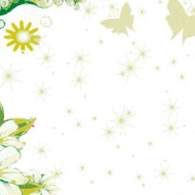 Butterfly Nature Vector Background - бесплатный vector #217577