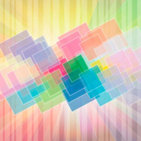 Colorful Square Art Design - vector gratuit #217677
