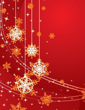 Christmas Background Red - vector #217687 gratis