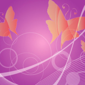 Butterfly Free Vector Background - Kostenloses vector #217697