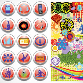 Vector Design Buttons Graphics - vector gratuit #217747