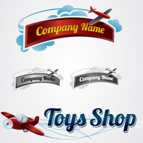 Toy Plane Logo Collection - Free vector #217817