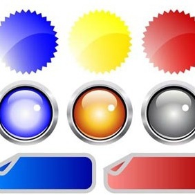 Glossy Buttons - Free vector #217887