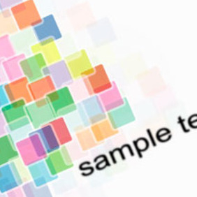 Colorful Square Element Vector Design - бесплатный vector #217907