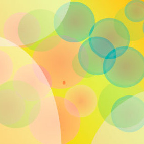 Bokeh Abstract Orange Vector Design - Free vector #217947
