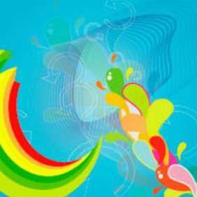 Colors Abstract Design Vector Graphic - Free vector #218047
