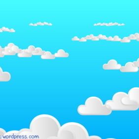 Cloudy Background 2 - vector gratuit #218117