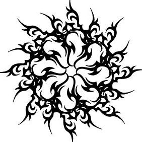 Tribal Star Shape Vector - vector #218367 gratis