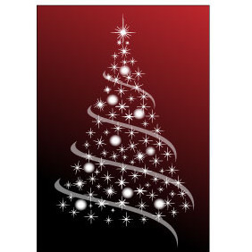 Free Christmas Tree Abstract Vector - vector gratuit #218377