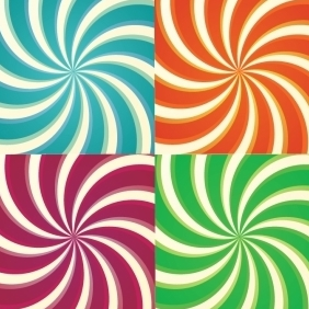 Set Of Simplistic Sunbursts - vector gratuit #218387