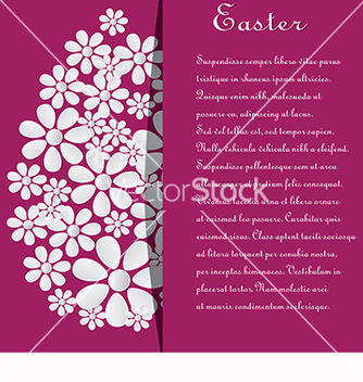 Free card with text and eggs for easter vector - Kostenloses vector #218397