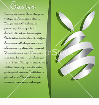 Free card with text and eggs for easter on a green vector - Kostenloses vector #218417
