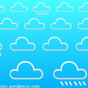 Cloudy Background 1 - vector #218567 gratis