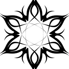 Tribal Tattoo Vector Flower - Free vector #218597