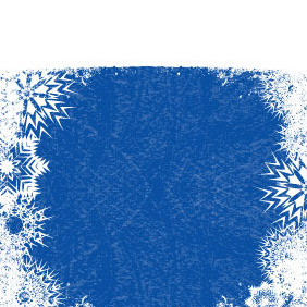 Xmas Blue Vector Background - vector #218647 gratis