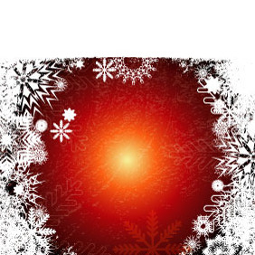 Xmas Grunge Vector Background 2 - бесплатный vector #218657