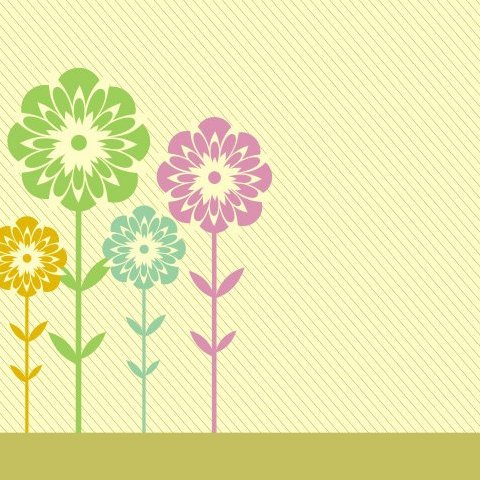 Meadow card - Free vector #218707