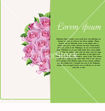 Free card for text with roses vector - vector gratuit #218747