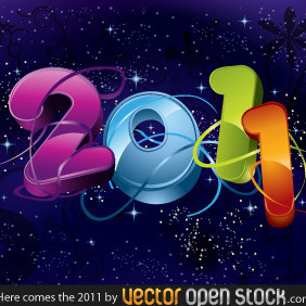 Here Comes The 2011 - vector gratuit #219037