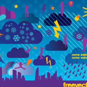 Weather Vector - vector gratuit #219047