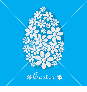 Free blue card for easter vector - Kostenloses vector #219067
