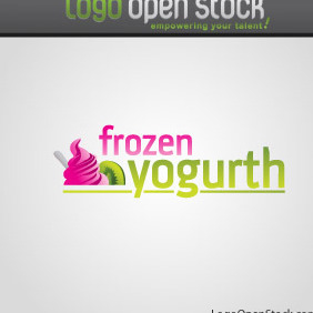 Frozen Yogurt Logo - vector gratuit #219077