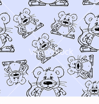 Free beautiful pattern with mouse vector - бесплатный vector #219247